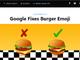 Googleのハンバーガー絵文字、Android 8.1でチーズの位置を修正