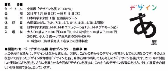 企画展「デザインあ展 in TOKYO」