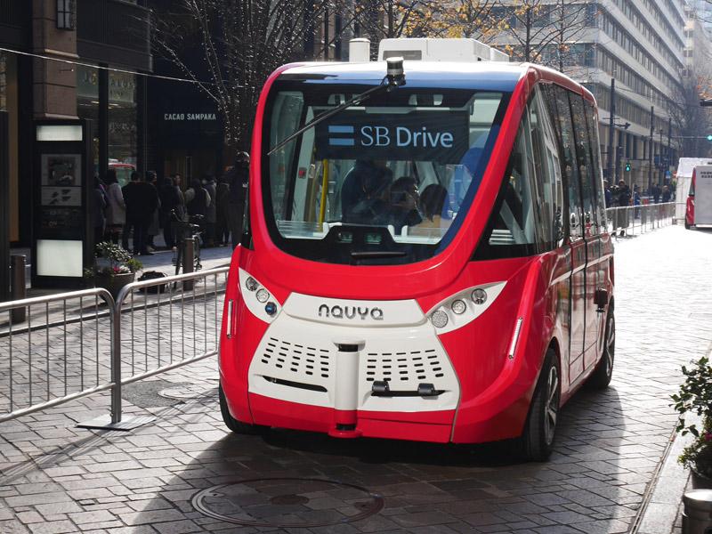 GPSが受信できなくても走行可、レベル4の「自動運転バス」に乗ってきた
