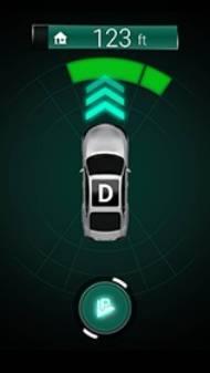 低速自動走行中のスマートフォン画面表示