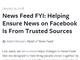 Facebookの新虚偽ニュース対策はユーザー評価に基づくメディアのランク付け