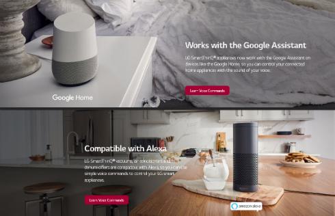 LG Electronicsのスマート家電が「Alexa」と「Google