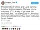 トランプ大統領、「ZTEが事業を再開できるよう習主席と協力している」とツイート