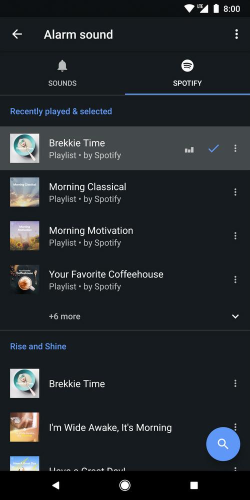 b9ba2399a9 Androidの「時計」アプリ、アラーム音としてSpotifyの楽曲設定可能に - ITmedia NEWS