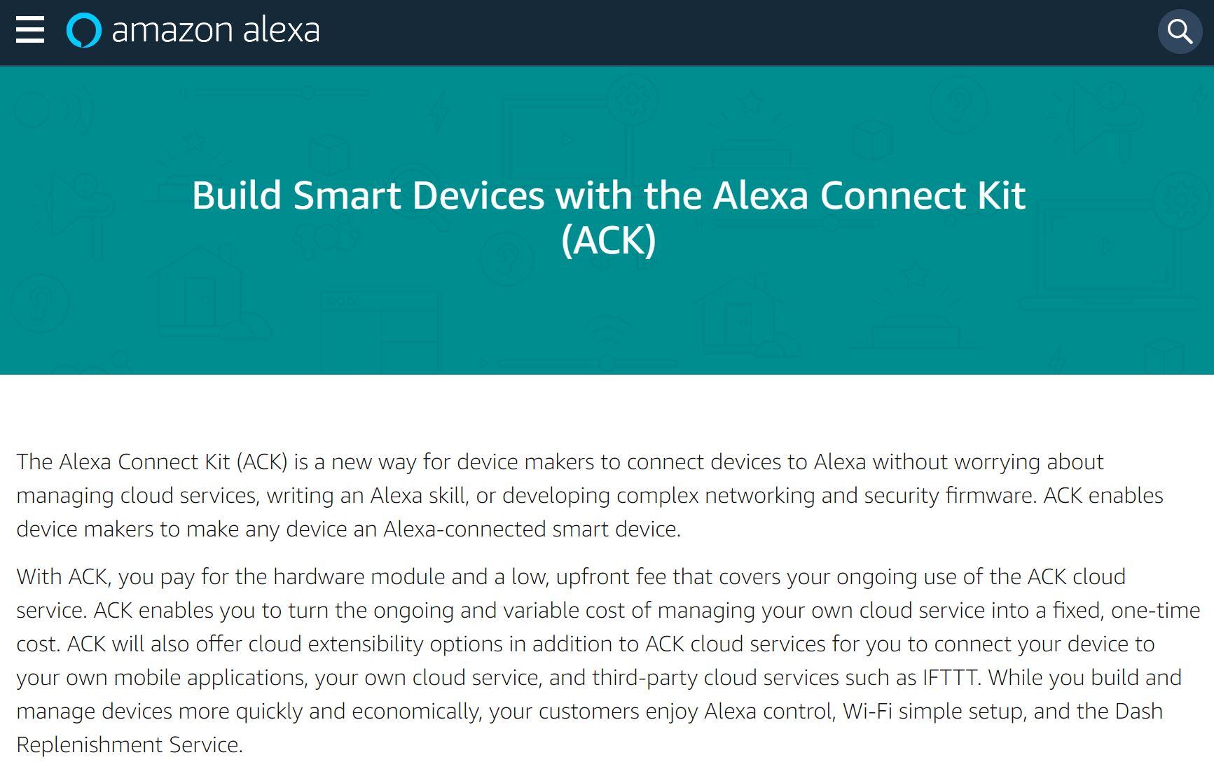 Amazon、オリジナル電子レンジにも搭載のMCU「Alexa Connect Kit」プレビュー公開