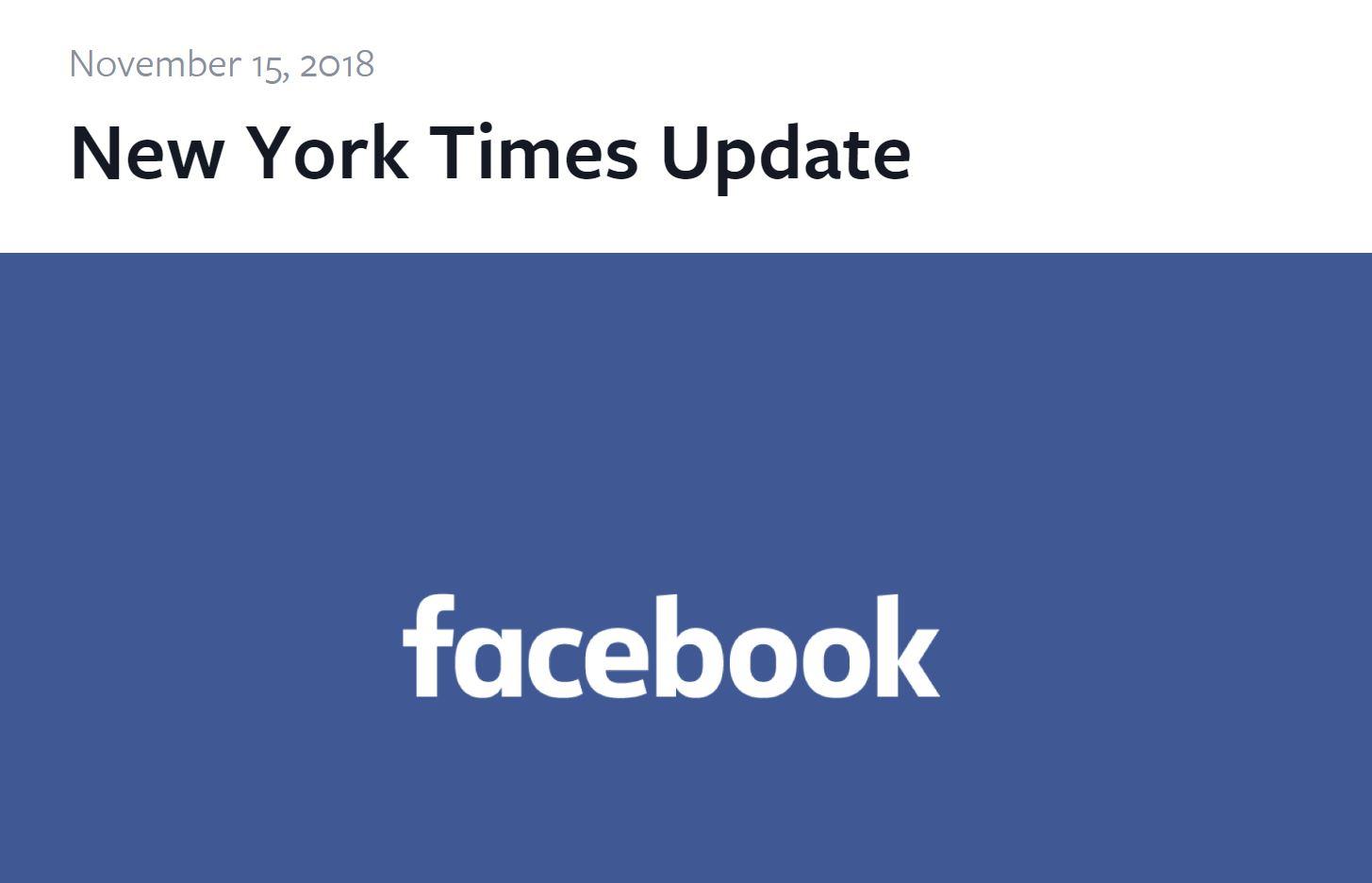 Facebook、New York Timesによる社内問題暴露記事に逐一反論