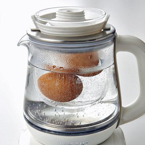 【家電】ゆで卵やお茶を作れる電気ケトル「クックケトル」登場