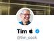 AppleのクックCEO、Twitterの名前を「ティム・アップル」に