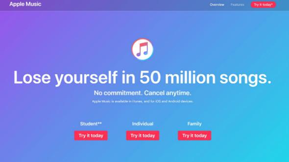「Apple Music」、米国の有料会員数でSpotify超え──Wall Street Journal報道