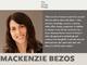 離婚で富豪になったマッケンジー・ベゾス氏、資産の半分以上を寄付する「Giving Pledge」に参加