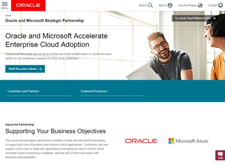 MicrosoftとOracle、クラウドの相互接続で合意 クロスクラウドのシングルサインオン、AzureからOracle ...