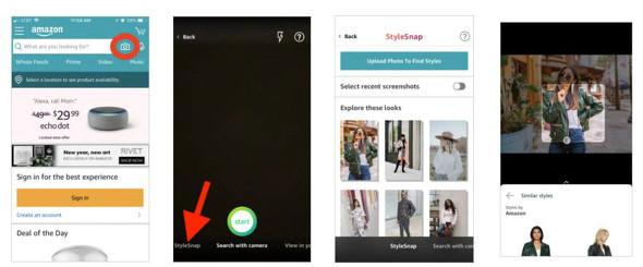 Amazon、気になる服の写真から類似する服を検索・購入できる