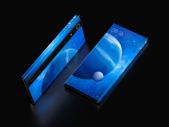 """【スマホ】「1億画素カメラ」搭載スマホ、Xiaomiが発表 """"背面まで覆うディスプレイ""""採用"""
