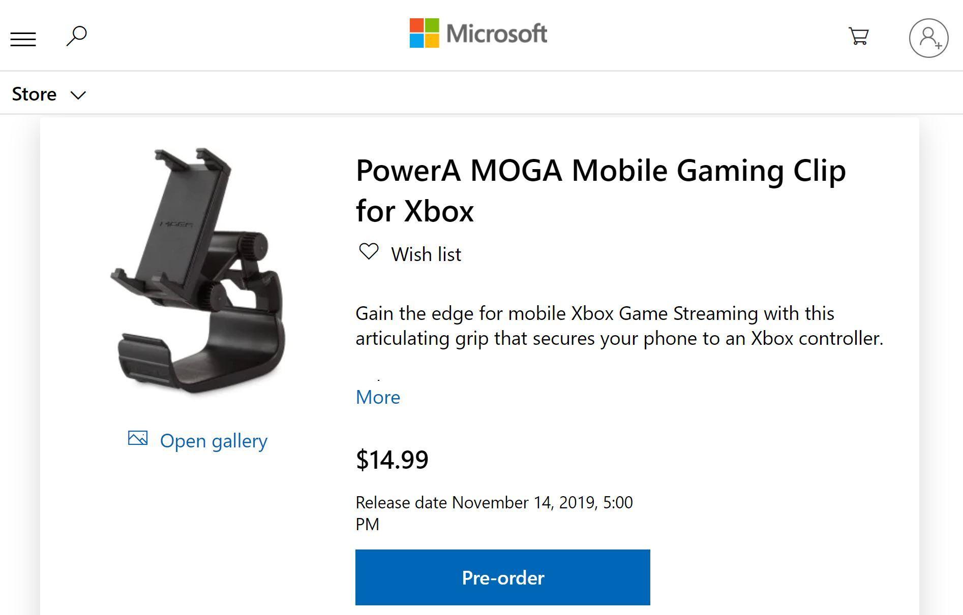 Microsoft、クラウドゲーム「Project xCloud」用スマホ+コントローラクリップの予約開始