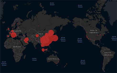 世界 新型 地図 コロナ