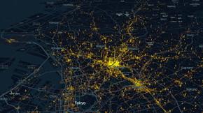 3月28〜29日の渋谷区の人の流れの量