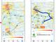 """NAVITIME、街の混雑度が分かるヒートマップ搭載 """"密""""の度合いを9段階に色分け"""