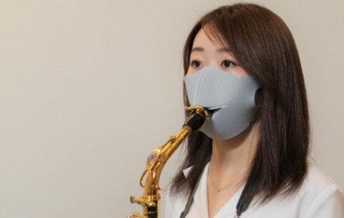 島村楽器、着けたままリコーダーやサックスを吹けるマスク 演奏…