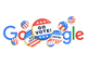 Google Doodle米国版、大統領選本番まで3日連続「投票しよう」に
