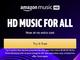Amazon Musicのハイレゾ、Unlimitedプランで無料に(日本は対象外)