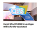 CES 2022のリアル会場、ワクチンパスポート必携に