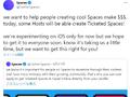 Twitterの「チケット制スペース」、まずはiOSでチケット販売可能に