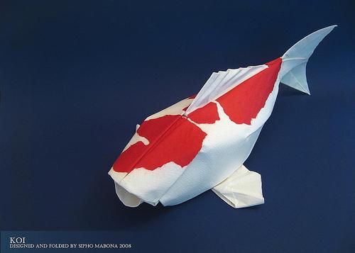 すべての折り紙 上級者 折り紙 : Koi Fish Origami Instructions
