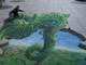1万メートルの豆の木が汐留に出現! 「ジャックと天空の巨人 3Dトリックアート」公開中