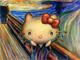 おい、キティさんがげっそりしてるぞ…… ムンクの「叫び」のコラボグッズ発売