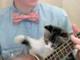 「僕にも弾かせるニャ!」 ウクレレの弾き語り中に子ネコが乱入しちゃう動画