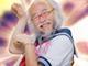 白髪&おヒゲの妖精「セーラー服おじさん」 アイドルMVにまさかの出演 ぐうかわな笑顔を振りまく