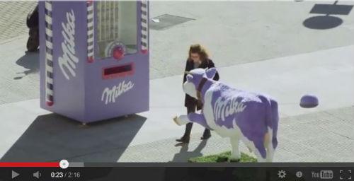 Milkaの自販機プロモーション