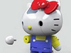 キティさん、超合金ロボになる 変形してロケットパンチをくりだす
