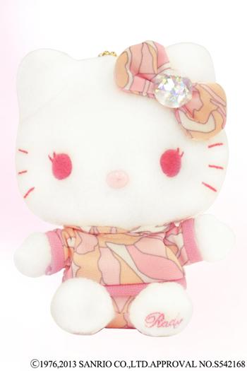 画像(Hello Kittyキーホルダーチェーン付きぬいぐるみ)