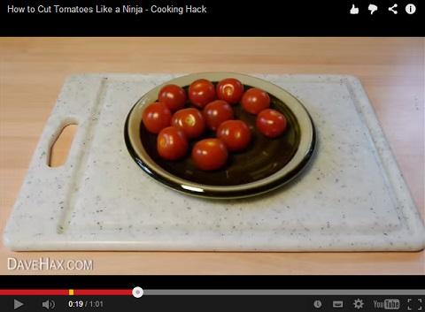 画像(ミニトマトを一気にスパッと半分に切る方法2)