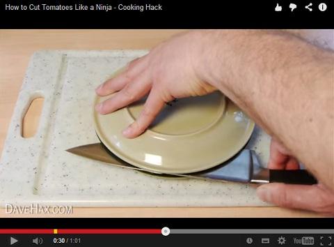 画像(ミニトマトを一気にスパッと半分に切る方法4)