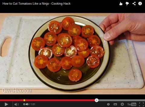 画像(ミニトマトを一気にスパッと半分に切る方法5)
