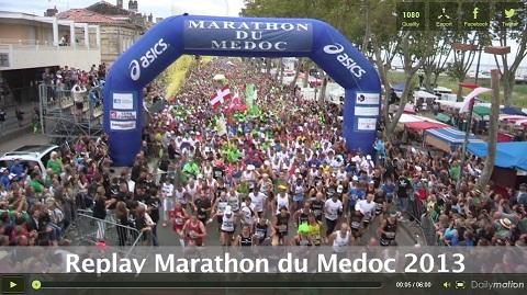 画像(「メドックマラソン 2013」の様子)