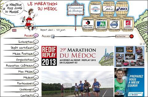 画像(公式ホームページ「メドックマラソン」)