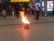 浦和駅で段ボールが突如炎上、一時騒然