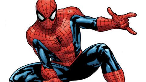 糸を出そうとするスパイダーマンのイラスト