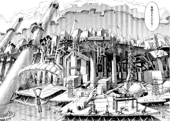 2巻16話「離陸」のワンシーン、苦労して描いた1コマ