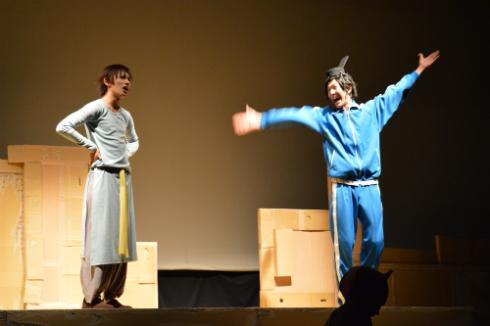 イケメンな小野妹子(橋本祥平、写真=左)と相変わらず自由な聖徳太子(西山丈也、写真=右)