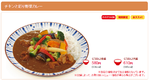 チキンと彩り野菜カレー