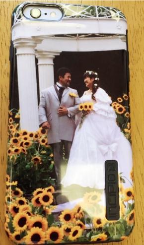 番組内で撮影したウエディングドレス姿の北斗さんとの2ショット