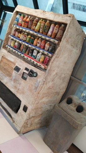 木彫りの自動販売機