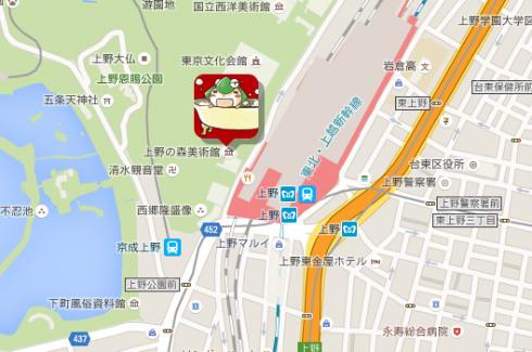 会場地図(「蒼樹うめ展」公式サイトより)