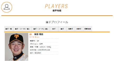福田聡志投手