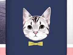 すごく見てくるなあいつ……蝶ネクタイをつけた猫がまっすぐ見つめてくるiPhoneケースが発売