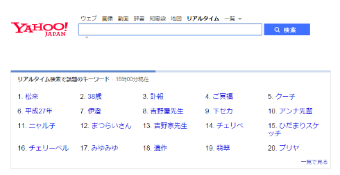 Yahoo!検索のランキング上位がすべて松来さん関連に